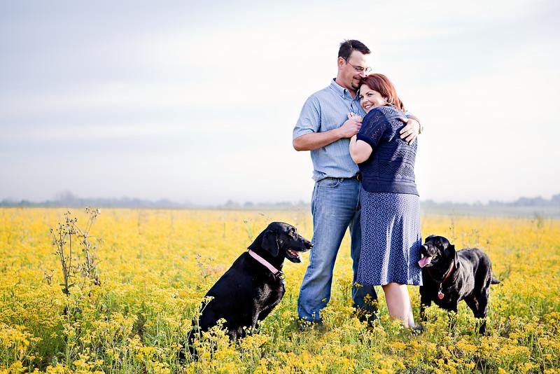 Brenham-Engagement-Wildflowers-Dogs-C-Baron-Photo-001