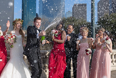 Catholic Wedding Mass at Holy Rosary and Reception at JW Marriott in Downtown Houston