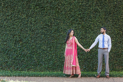 Pretty S. Asian Engagement session at Rice University in Houston Texas