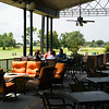 Patio off the bar overlooking driving range