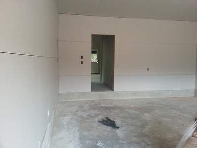 Entrance thru garage