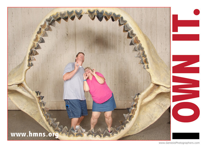 Houston Museum of Natural Science Own It with Megalodon Jaws, Member Event August 2011
