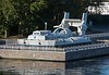 Skate class hovercraft 634, Moscow, 29 August 2015.  Seen on the Moscow Canal in north west Moscow at the Russian Navy Museum memorial .