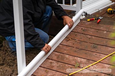 Aluminum Picket Railing Installation