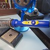 """I recently started using this Hakko model FX-601. It's a 67 Watt iron with a built-in adjustable heat setting. This has become the soldering iron of choice for me as it's very handy to use at the track as well as at home. This iron heats up to 1/16"""" thick brass and all piano wire sizes. It heats up very fast and is very compact as it doesn't need a separate heat controller. The adjustable feature is excellent for soldering lead wires at a lower temp while also easily soldering motor cans to the chassis as well as heavy duty soldering. I highly recommend this soldering iron."""