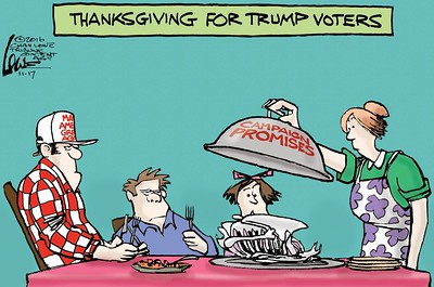 How editorial cartoonists say Happy Thanksgiving