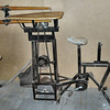 Foot Powered Scroll Saw<br /> The only time I use the PEDAL POWERED SCROLL SAW is to cut out the drawers on the Jewelry Chests. I use the table saw on the rest of the Jewelry Chest. My brother and I made the power source for the table saw. When I started needing a scroll saw, I made one to fit onto the same power source as the table saw. I just unbolt the table saw and lift it off the power source and set the scroll saw in place, then bolt it on. I don't use the vacuum with it.