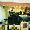 National Craft Festival 1 Oct 1996<br /> I use 1 of 6 jigs that I made to cut each of the pieces that I use on the overlay. I am using one of those jigs here.