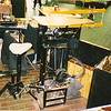Foot Powered scroll Saw<br /> This is as it would be set up at a show. The only time I use the PEDAL POWERED SCROLL SAW is to cut out the drawers on the Jewelry Chests. I use the table saw on the rest of the Jewelry Chest. My brother and I made the power source for the table saw. When I started needing a scroll saw, I made one to fit onto the same power source as the table saw. I just unbolt the table saw and lift it off the power source and set the scroll saw in place, then bolt it on. I don't use the vacuum with it.