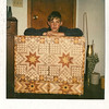 Mark and his Tool Box 1981<br /> In about 1981 I made a Tool Chest for my son, Mark.  He was to use half of his allowance to buy things to fill it, woodworking tools. I also overlaid it with small diamonds and triangles. I was seeing what all I could do, and what it would look like.
