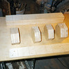 """1 Making The Table Pedestal<br />  In making the pedestal, first I make 4 blocks, using 3 or 4 pieces of  ¾"""" Baltic Birch plywood (for each block) (3/4"""" Baltic Birch plywood has at least 11 ply's).They are cut to size and glued and screwed together. In the top block (or top and bottom for the 8-sided pedestal) I put T-nuts in between some of the pieces to bolt into."""
