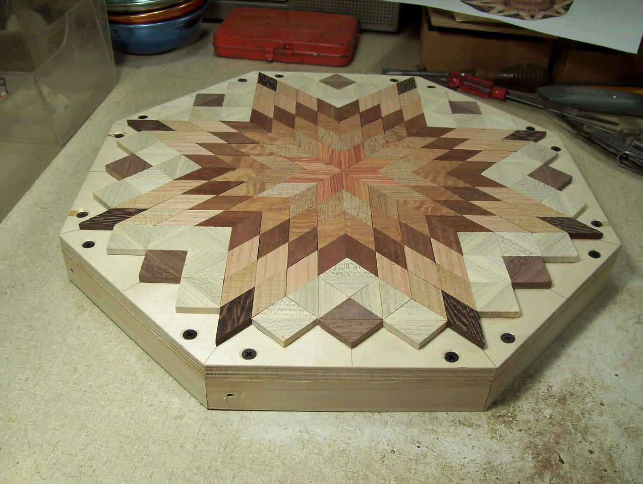 Making a Lazy Susan #33<br /> The lazy susan then looks like this.