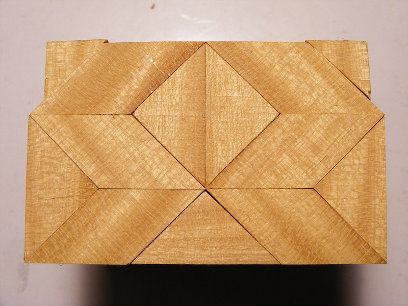 #12 Making a Tiny Sq Box<br />  The end of the box will then look like this.