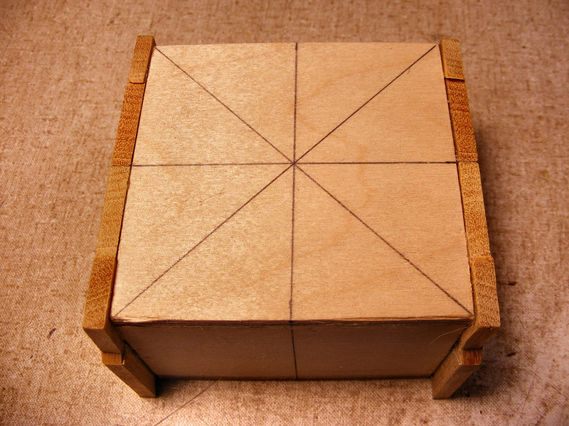 #13 Making a Tiny Sq Box<br /> I will do the same thing to the other end of the box to make it like this.