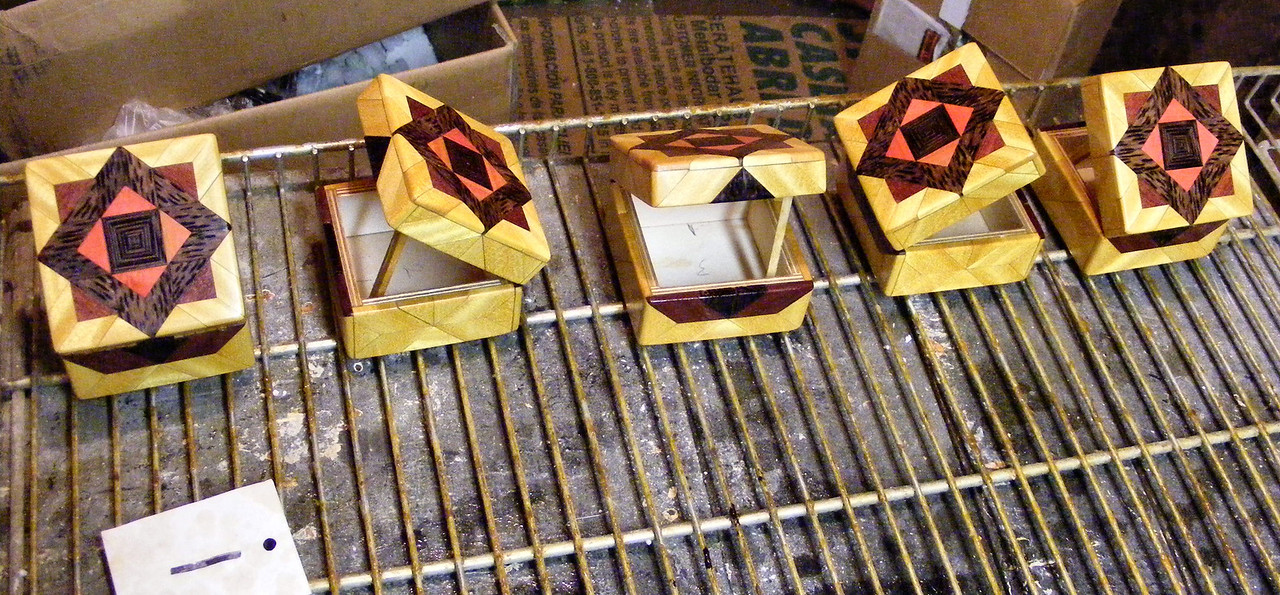 #43 Making a Tiny Sq Box<br /> These have one coat on and I will put 5 or 6 coats on before they are done.