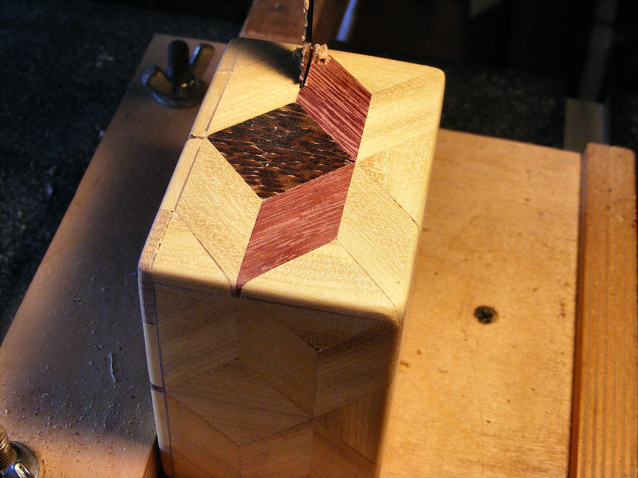 #31 Making a Tiny Sq Box<br /> I then take them to the band saw to cut them open.