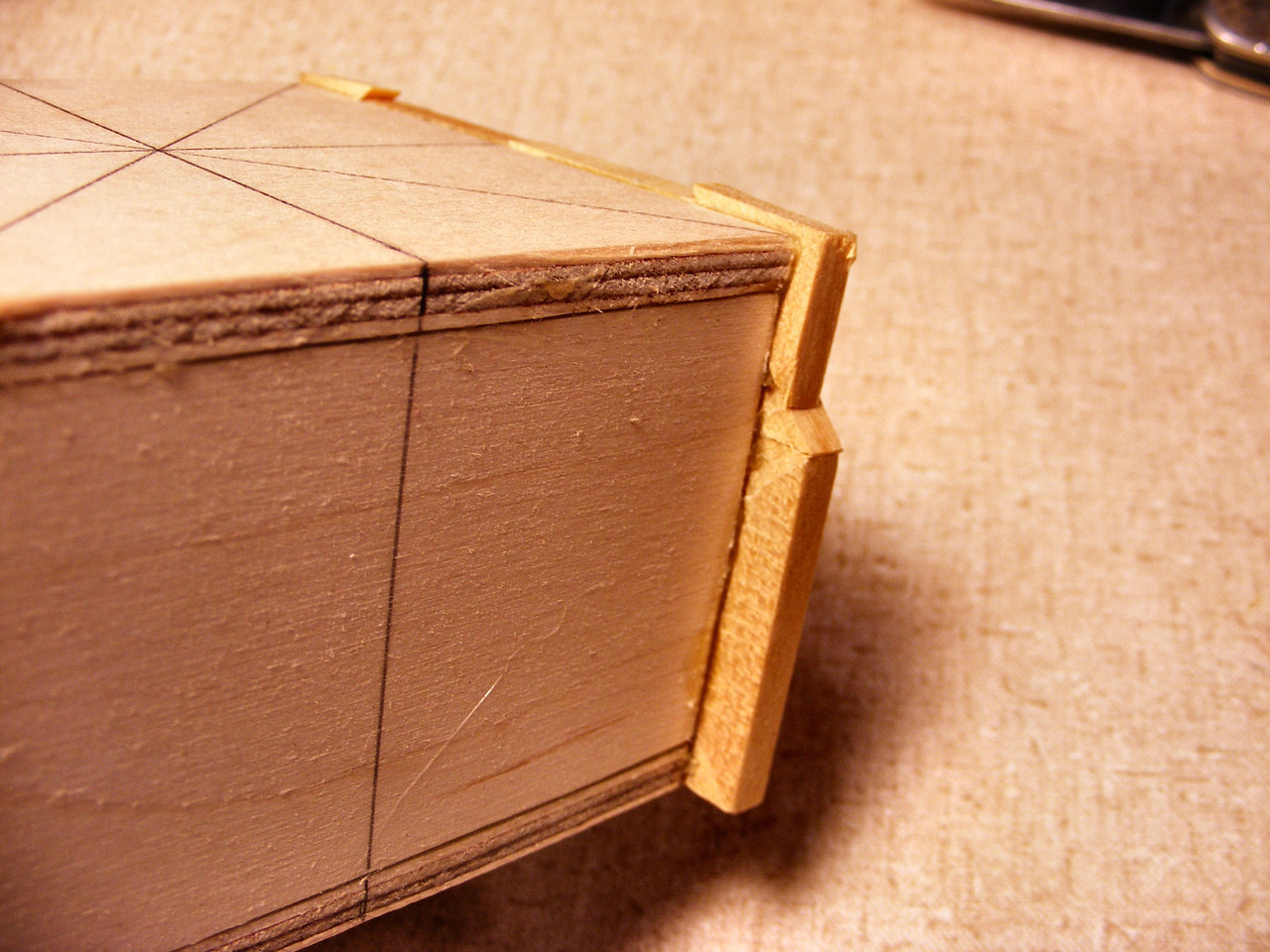 #11 Making a Tiny Sq Box<br /> After the glue is shaved off it will look like this.