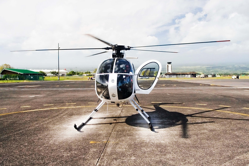 You can charter a helicopter:<br /> There are several companies based out of both Hilo and the Kona side.  <br /> I've only tried Paradise Helicopters but they were very professional, the experience was amazing and I would do it again in a heartbeat.<br /> <br /> Price: about $200
