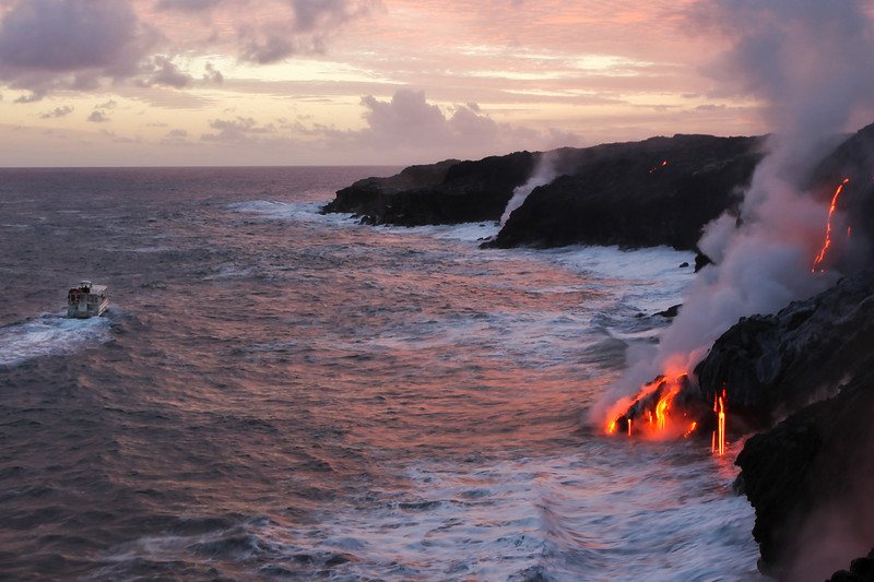 <font size=3><font color=red>By Boat</font size=3></font color=red>  There are a number of tour boats that will get you arguably one of best views of the lava.  I've not been on any of them but I hear the experience is pretty spectacular.  Price: $150+