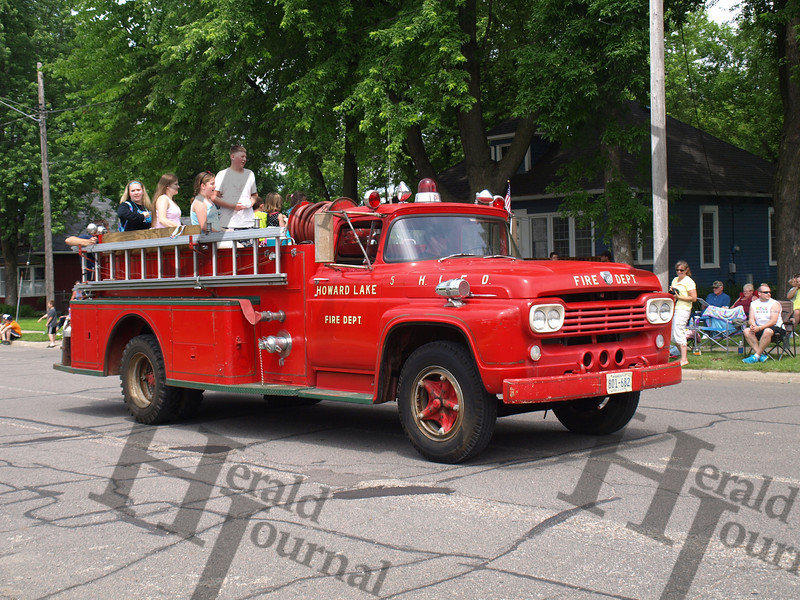 Howard Lake fire department in GND parade