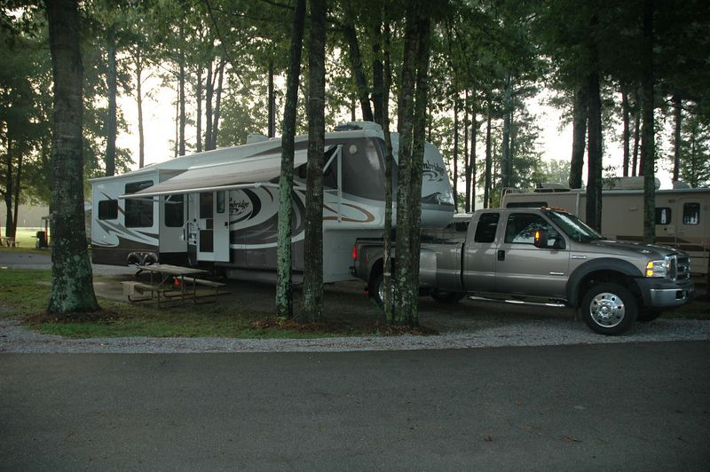 Our site at Shipps RV Campground