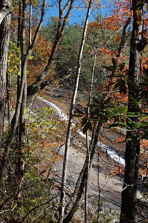 Journal Site 165: Falls Trail, Stone Mountain State Park, Roaring Gap, NC - Nov. 7, 2010