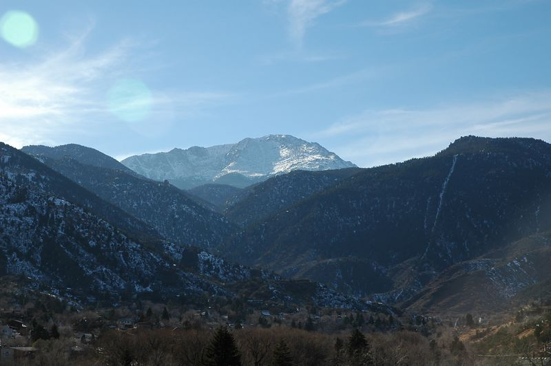 Pike's Peak from Red Crag's B & B