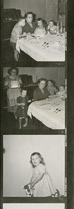Contact sheet ~ 1957 probably Sarah Kern birthday