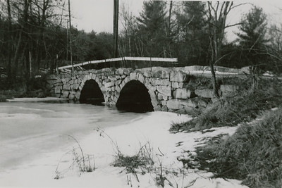 "Westford or Chelmsford, Mass. Caption: ""Stony Brook Bridge. [garble] Taylor farm, Feb. 1957"""