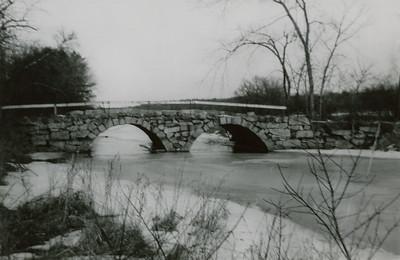 "Westford or Chelmsford, Mass. Caption: ""Stony Brook Bridge. Taylor farm, Feb. 1957"""