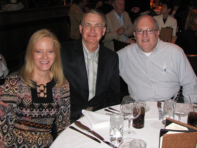 Howard's retirement dinner.  Pamela Gesbeck, Howard Gesbeck, Gary Friedman.
