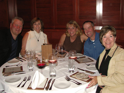 Howard's retirement dinner.  John Hemming and Cheri Ripp, Denise & John Tobie, Elaine Yankunas.