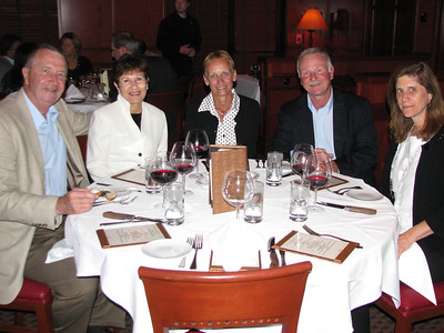 Howard's retirement dinner.  Larry & Joan Conners, Deb & Mike Ryan, Jean Christensen.