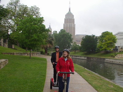 April 2007, taking a Segway ride around San Antonio Riverwalk in Texas after presenting training at the National Head Start Association Conference.