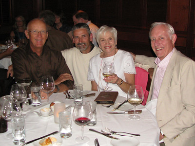 Howard's retirement dinner.  Bill Young, Mike Yankunas, Donna & Ray Weihofen.