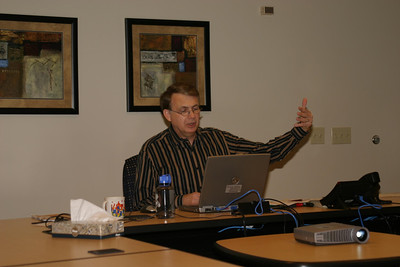 Howard conducting the very first webinar in September of 2005 from Wipfli's offices.