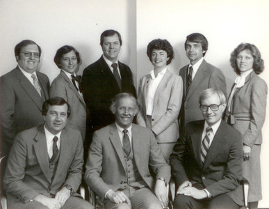 About 1982.  Gary Friedman, Linda Cheatham, Vince Lubenow, Carol Skorupan, Howard Gesbeck, Ruth Dumesic, Larry Conners, Bill Young, Ray Weihofen.  Partners and managers in the early years of Williams, Young & Associates.