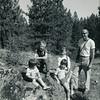 Howard and his four children, John, Heather, Lisa, Ann; Kamiak Butte, Washington, summer 1967.
