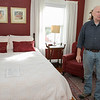 The Howarth House Bed and Breakfast in Fitchburg turned 10 Oct, 1, 2019 and on Friday, Oct. 18, 2019 Brian And Linda Belliveau sat down to talk about their business. Brian talks about one of the guest bedrooms at the B & B. SENTINEL & ENTERPRISE/JOHN LOVE