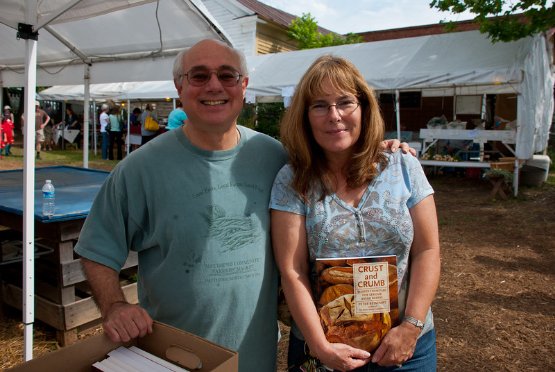 With Chef a at Matthews Farmers Market