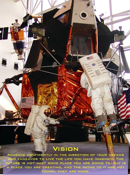 Vision - Captured while at the Smithsonian in Washington DC, where were you when Neil made his giant step for mankind?