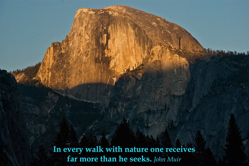 My capture of Half dome at sunset. Yosemite is to nature as NYC is to manmade, ominous and overwhelming