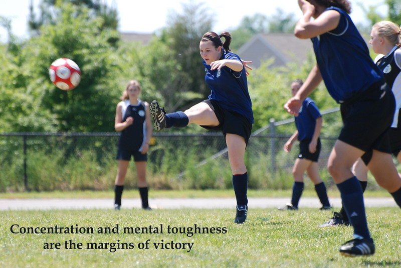 Concentration - One of my featured artists, who was a humble juggernaut on the soccer field