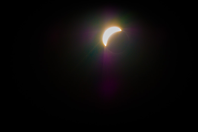 All filters removed, at about 96% Solar Eclipse