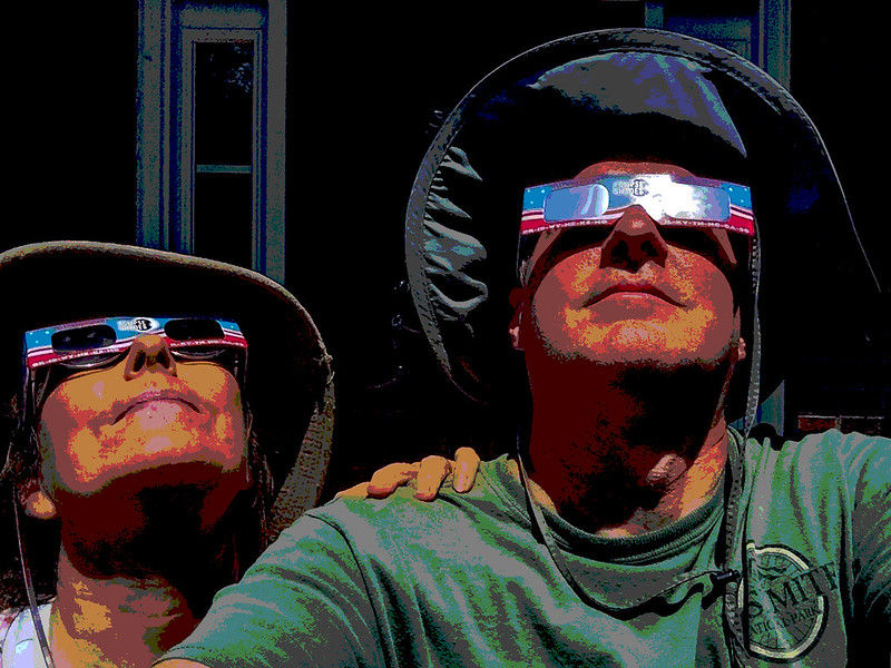 Eclipse geeks with Wilburn certified shades, now if only the clouds would disipate