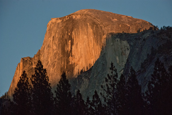 Half Dome, NATURE at sunset