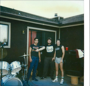 """John Cobb (drums), Dale Black (Bass), Howie """"short shorts"""" Silinski. John was a super talented player and a very soft spoken professional musician"""