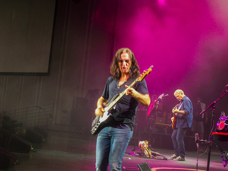 3  very up close moments, one here with Geddy has he walked towards us, jammed in our face, and then got in front of Holly, to jam with her and the crowd some more.