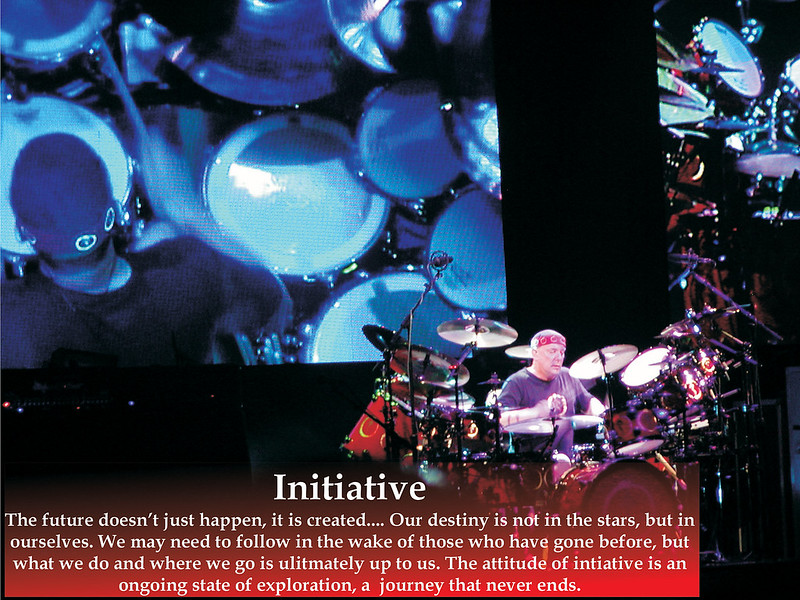 Initiative<br /> The Professor, Percussionist and Lyricist extraordinaire. There are only 3 pics in this gallery I did not take,  I asked fans on the Rush page to share with me pics they took of the show so that I could remember from several vantage points.