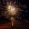 Fireworks show behind St John's Church